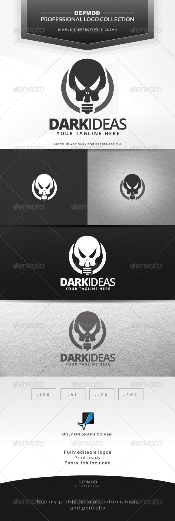 GraphicRiver Dark Ideas Logo 6806677