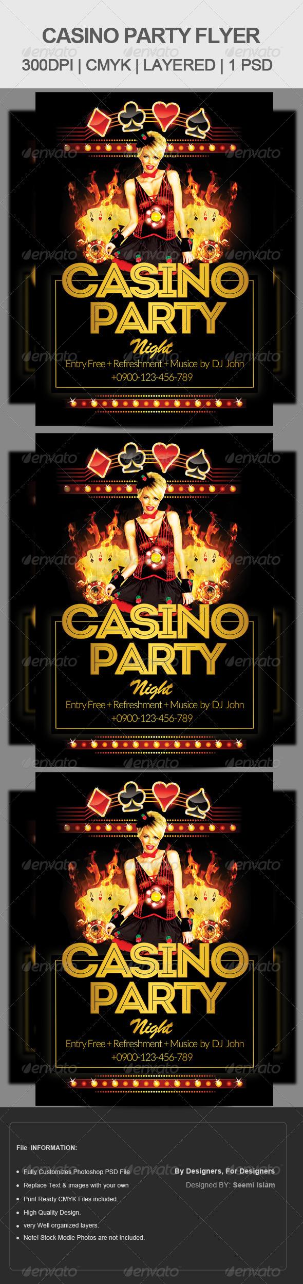 GraphicRiver Casino Club Flyer Template 6806972