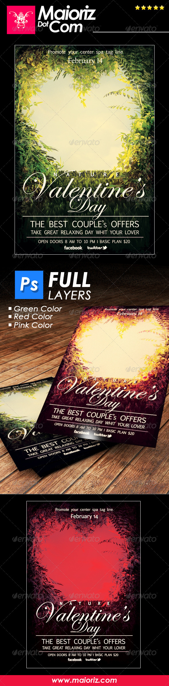 GraphicRiver Nature St Valentine Flyer 6806493