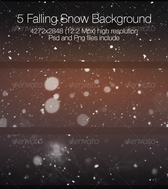 GraphicRiver Falling Snow Collection 6807251