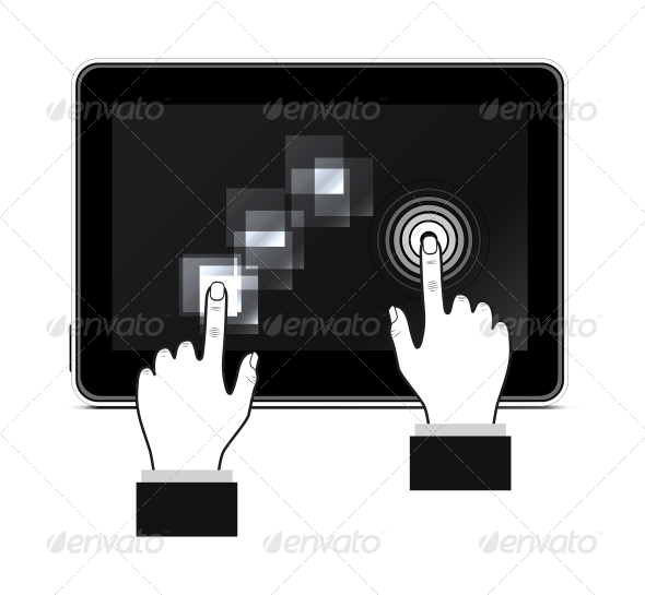 GraphicRiver Hand Touching Screen 6807392