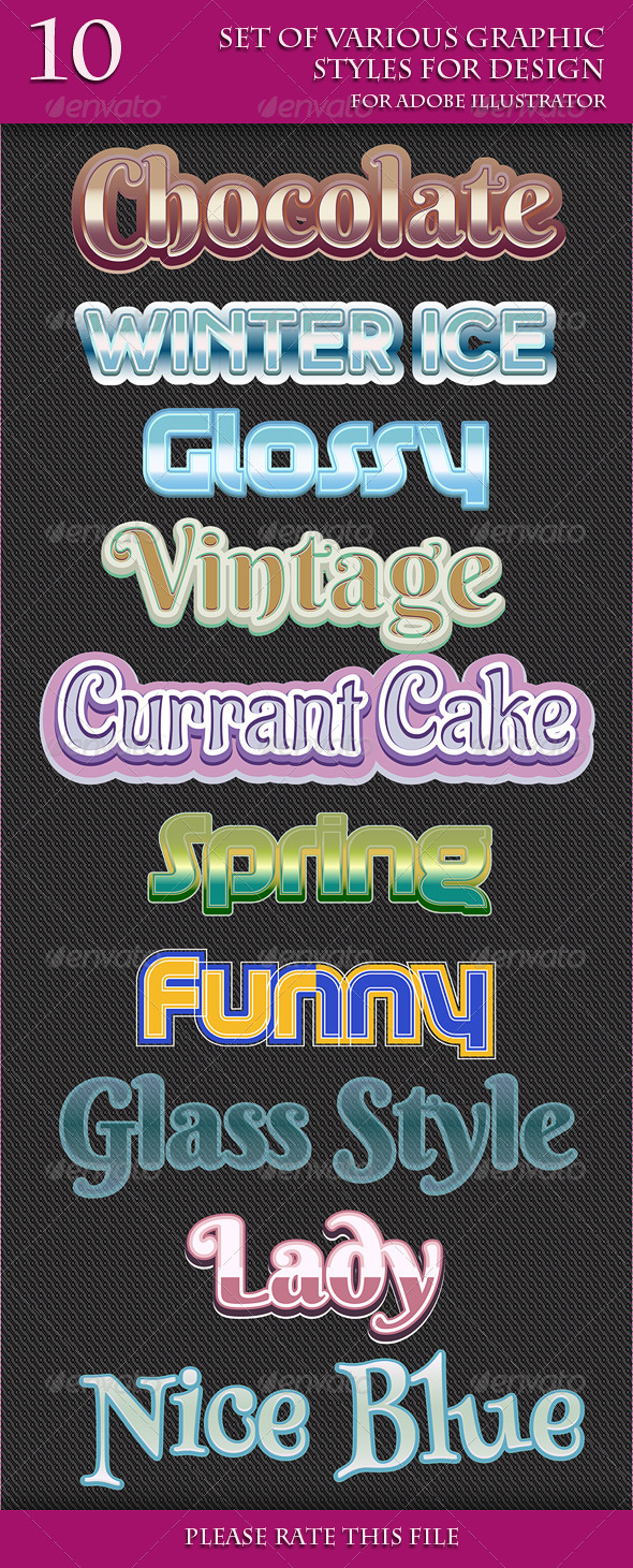 GraphicRiver Set of Various Graphic Styles for Design 6807812