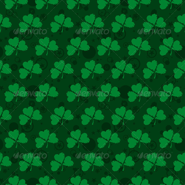 GraphicRiver Seamless Pattern with Clovers 6808206