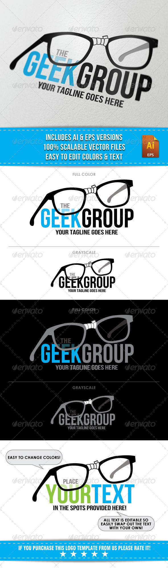 GraphicRiver Geek Group Logo 6807748