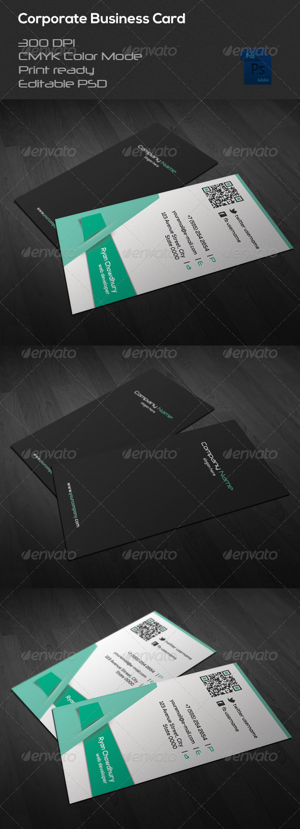 GraphicRiver Corporate Business Card 37 6808398