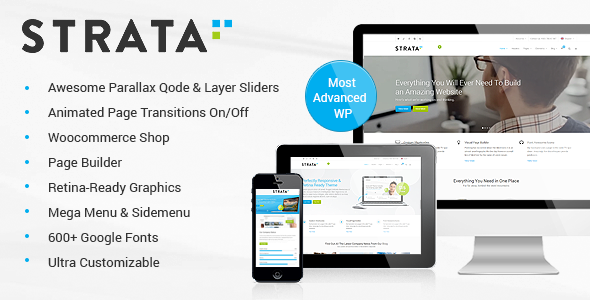 Strata - Professional Multi-Purpose Theme - Corporate WordPress