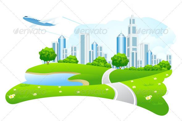 Green City Landscape - Stock Photo - Images