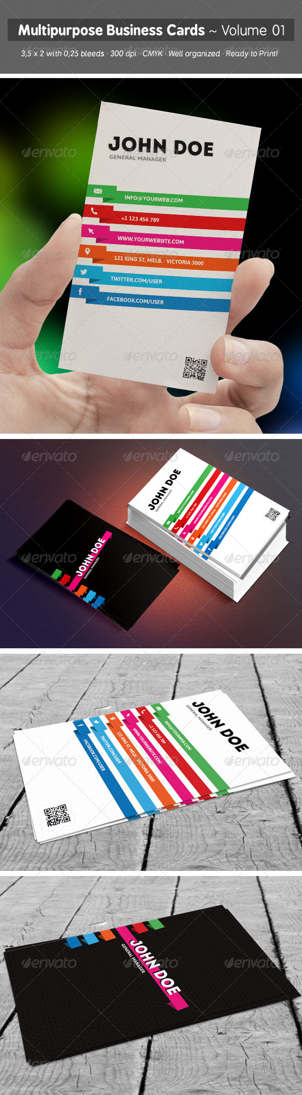 Multipurpose Business Cards - Volume 01 - Creative Business Cards