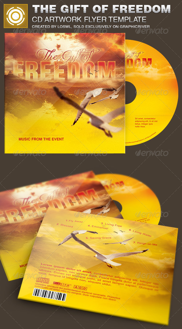 GraphicRiver The Gift of Freedom CD Artwork Template 6809423