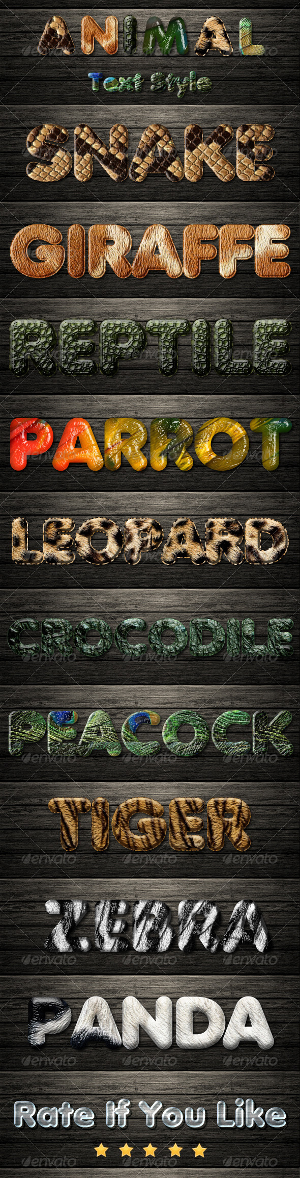 GraphicRiver Animal Text Styles HD 6809442