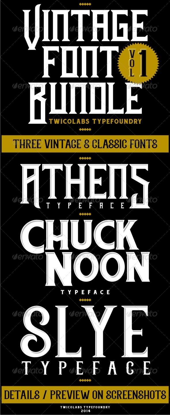 GraphicRiver Vintage Font Bundles 1 6809510