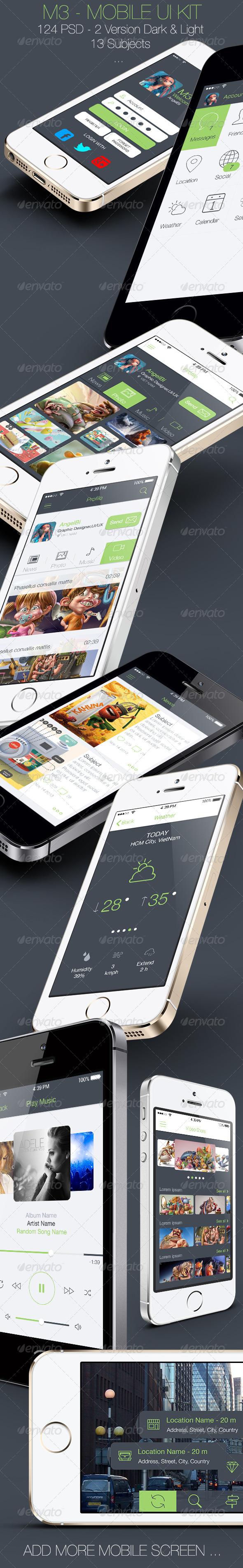 GraphicRiver M3 Mobile UI Kit 6792582