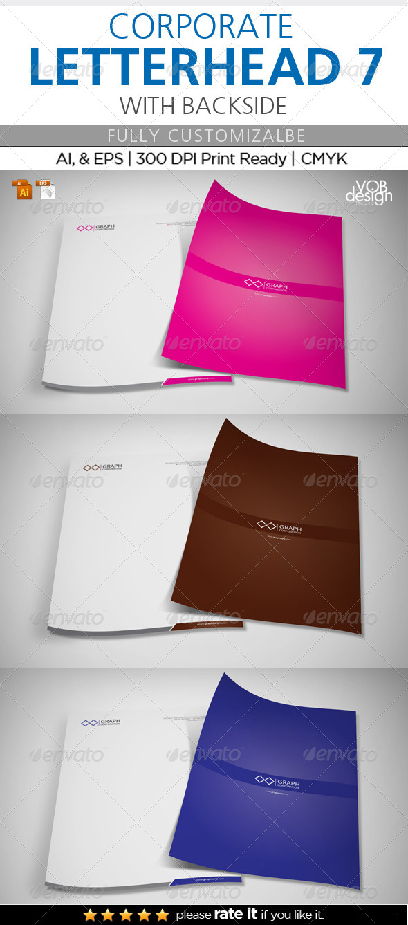 GraphicRiver Corporate Letterhead 7 with Back 6810150