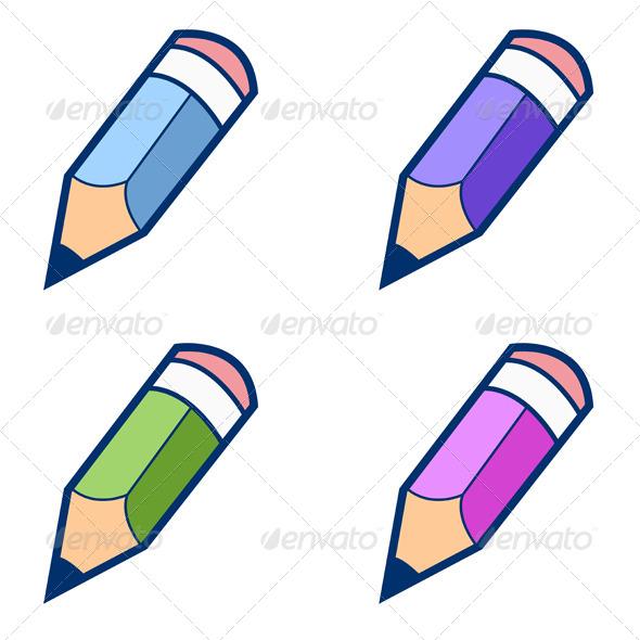 GraphicRiver Colored Pencils 6810207