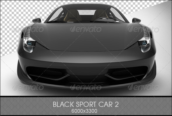 GraphicRiver Black Sports Car 2 6810287