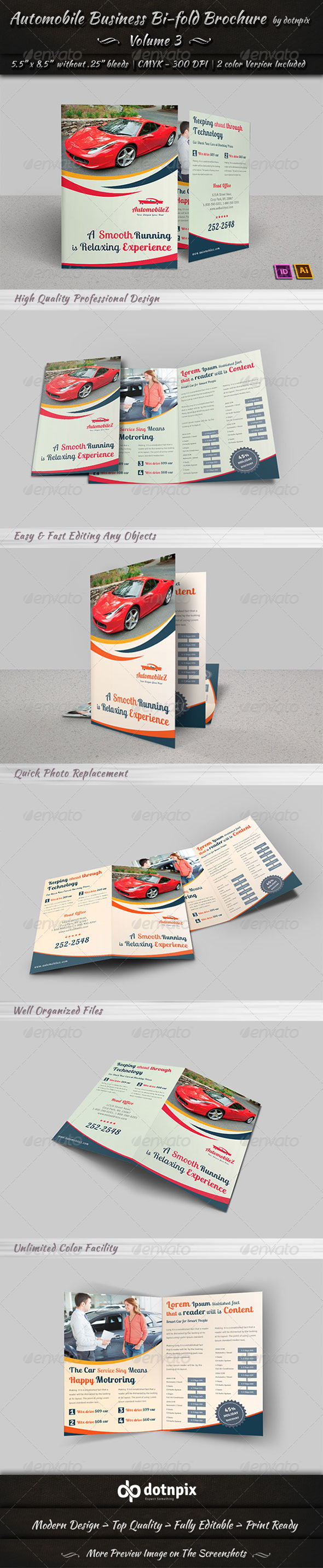 GraphicRiver Automobile Business Bi-Fold Brochure Volume 3 6810685