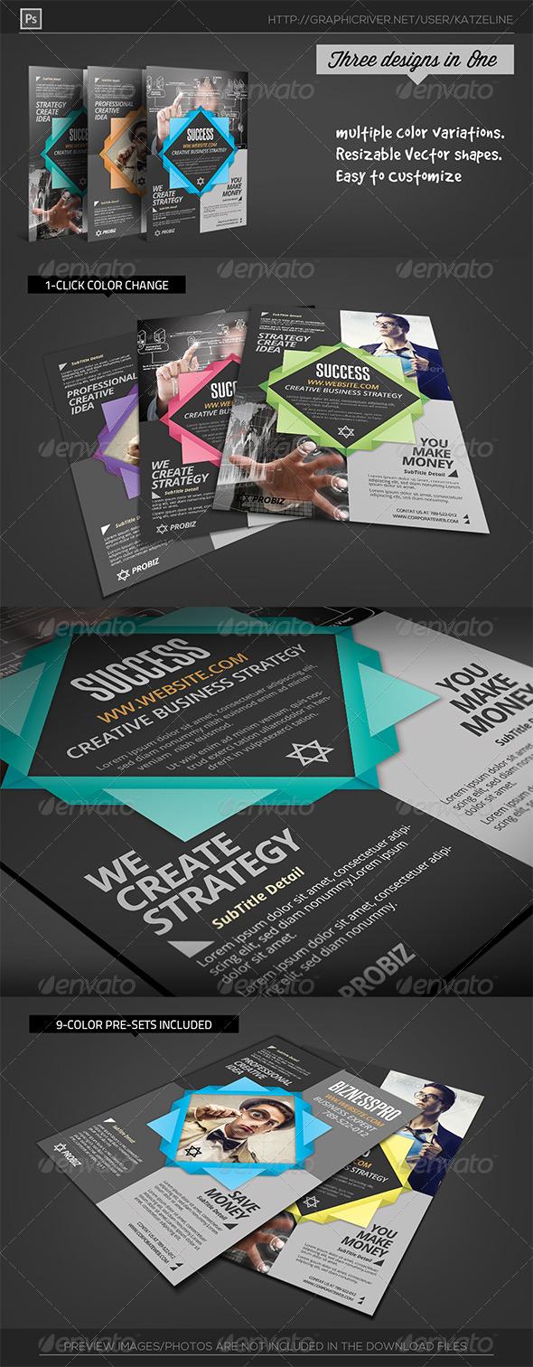 GraphicRiver Multipurpose Corporate Flyer Template Origami 6810750