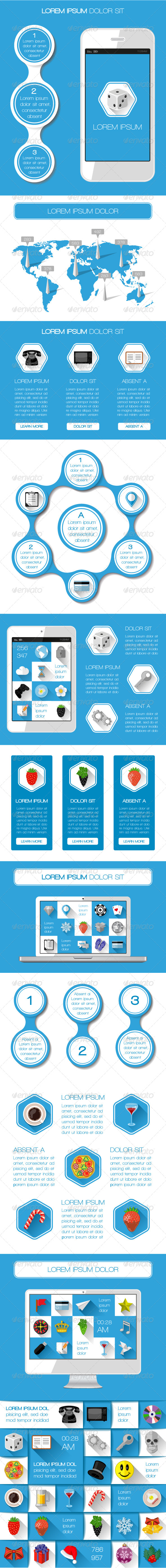 GraphicRiver UI Infographics and Web Elements 6810966