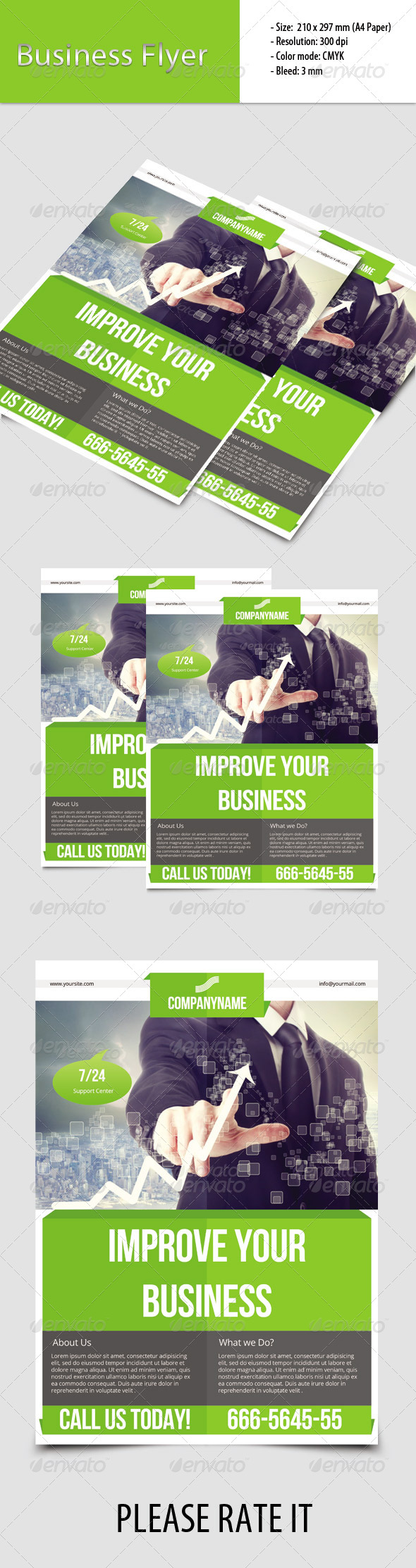 GraphicRiver Corporate Flyer Template 6811110