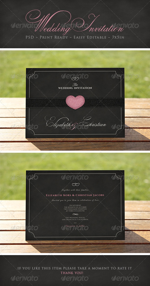 GraphicRiver Elegant Wedding Invitation 6806162