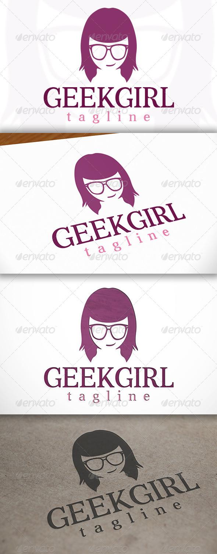 GraphicRiver Geek Girl Logo 6811274