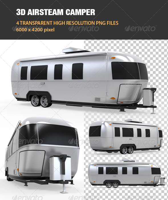 GraphicRiver 3D Airsteam Camper 6811335