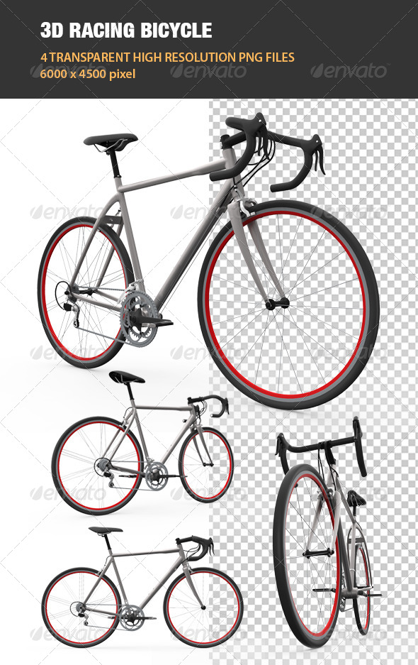 GraphicRiver 3D Racing Bicycle 6811346