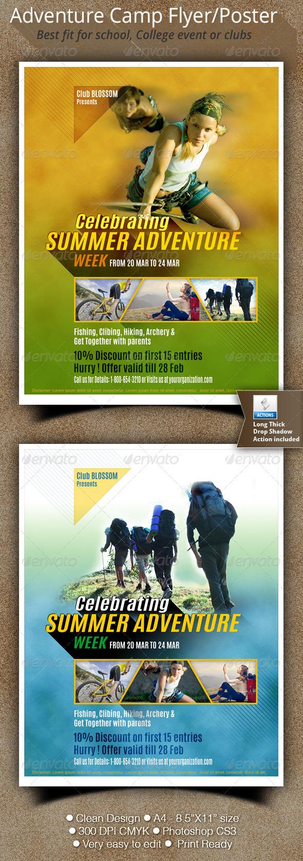 GraphicRiver Adventure Camp Flyer 6811351