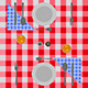 Abstract Checkered Dinner Setting