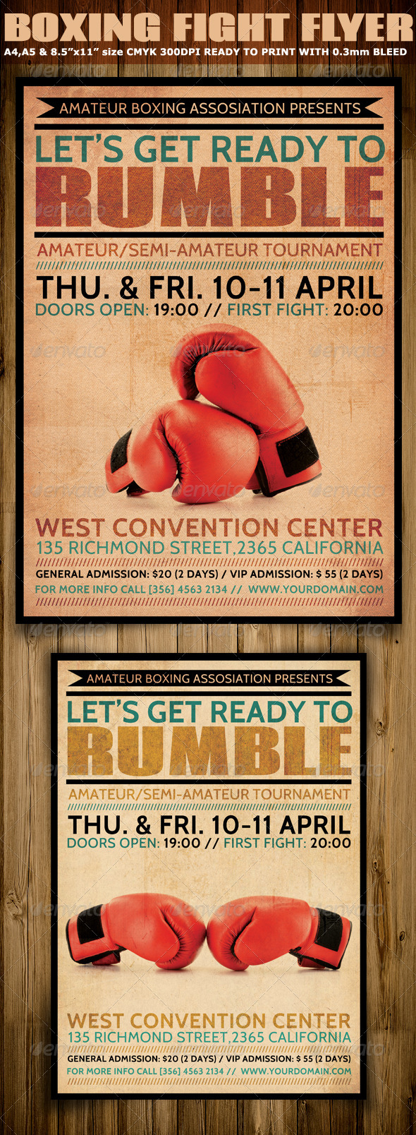 GraphicRiver Boxing Flyer Template 6811573