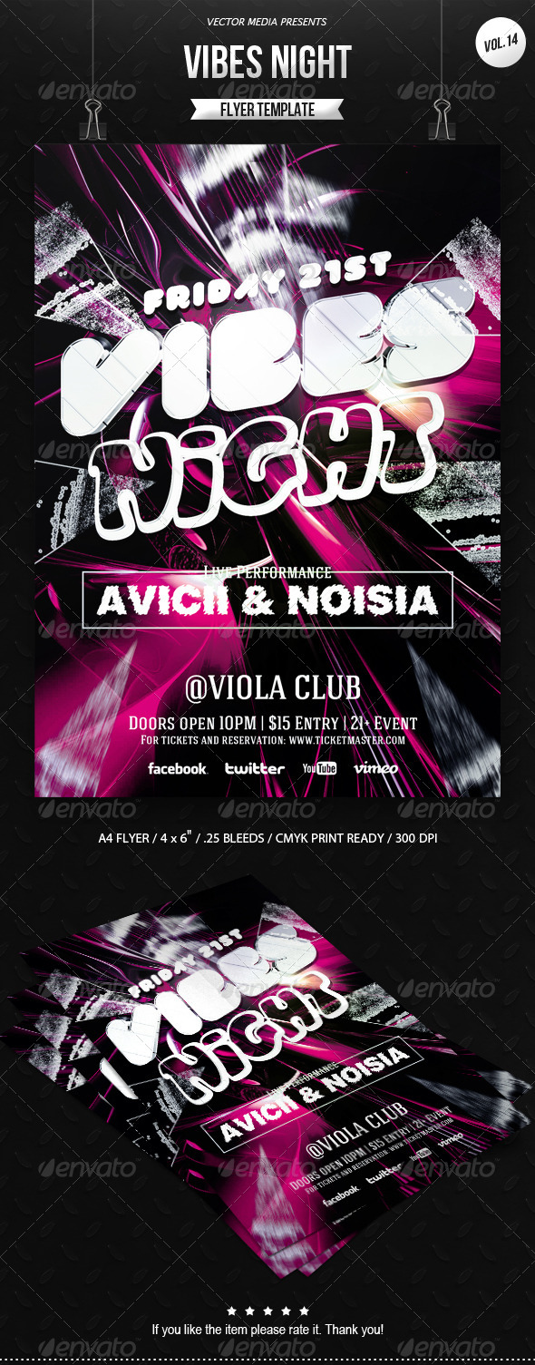 GraphicRiver Vibes Night Flyer [Vol.14] 6811922