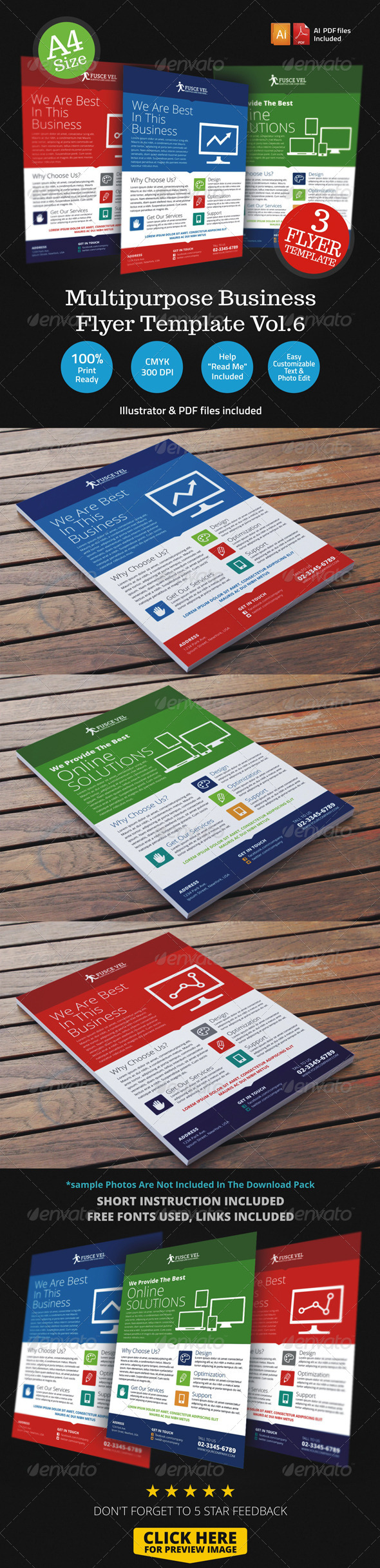 GraphicRiver Multipurpose Business Flyer Template Vol.6 6812131