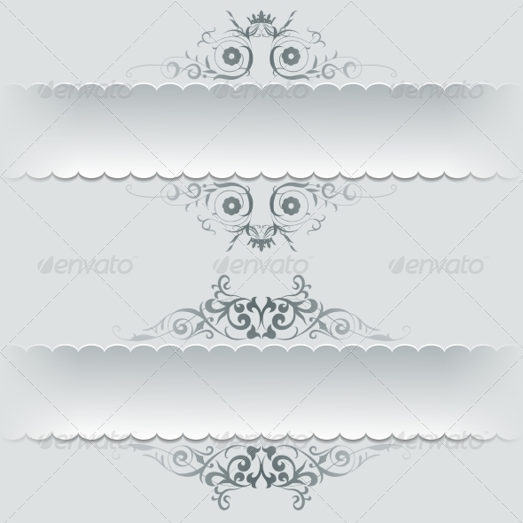Ornamental Decorative Paper Frames Banner