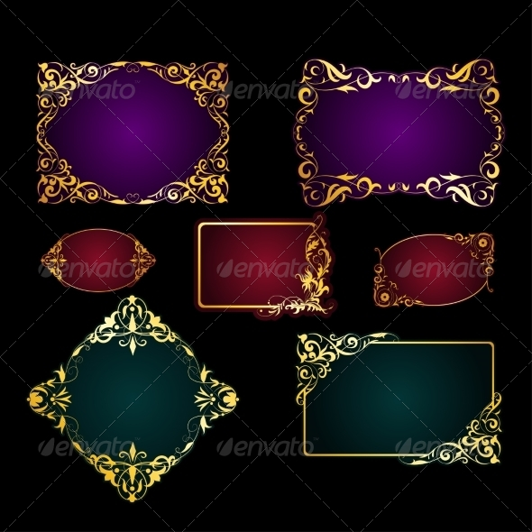 Set of Template for Greeting Card Invitation