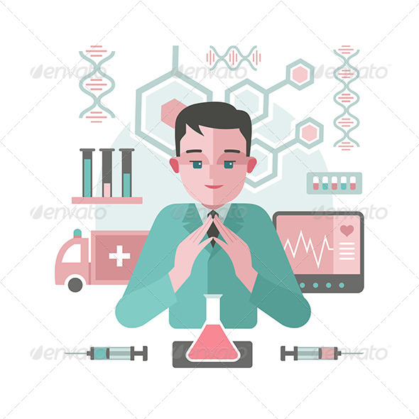 Medicine Abstract Background with Doctor