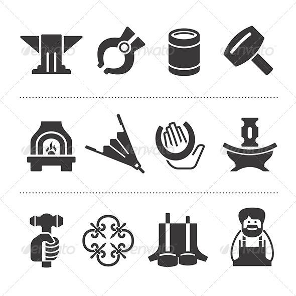 GraphicRiver Set Of Blacksmithing Icons 6812533