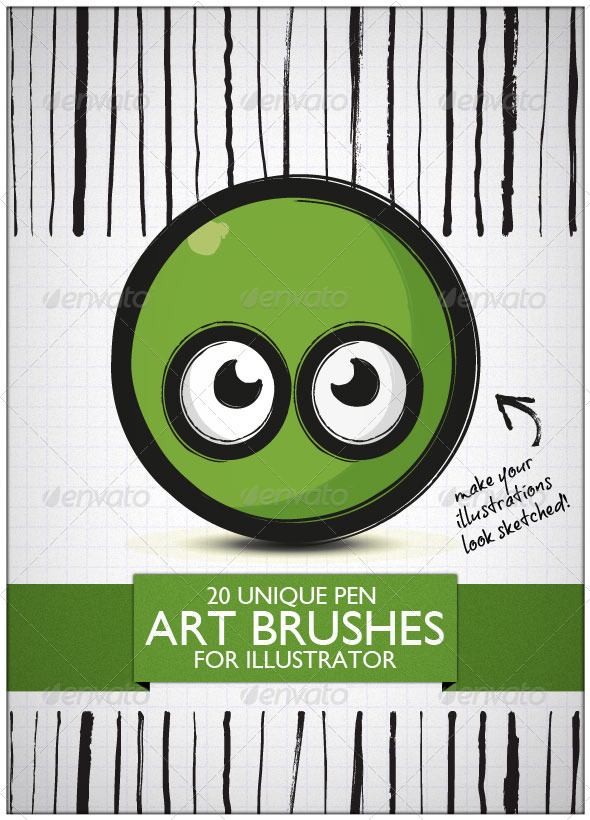 GraphicRiver 20 Unique Art Brushes For Illustrator 6812591
