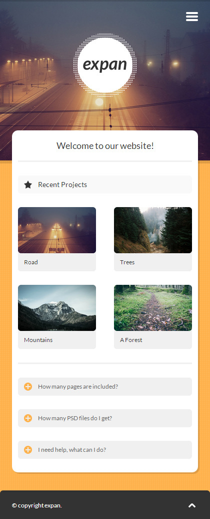 expan | Mobile HTML/CSS Portfolio Template