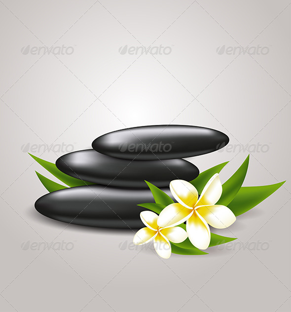 GraphicRiver Flowers and Spa Stones 6812665