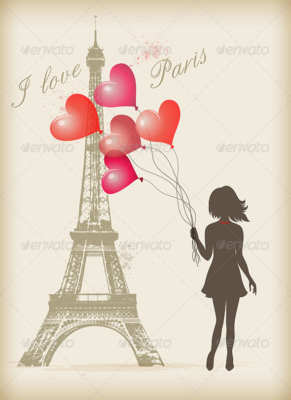 Graphicriver girl in paris street cafe 4803650