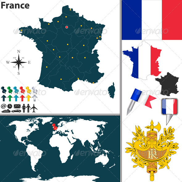 GraphicRiver Map of France 6812800