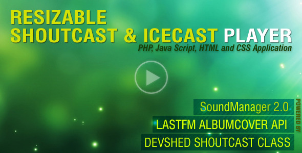 PHP-Javascript Shoutcast and Icecast V3.0