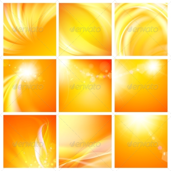 GraphicRiver Set of Nine Abstract Backgrounds 6812998
