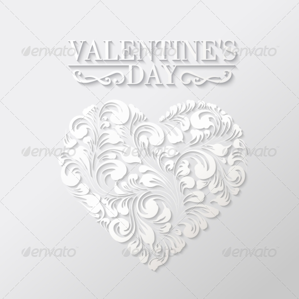 GraphicRiver Shining Heart in Hohloma Style 6813029