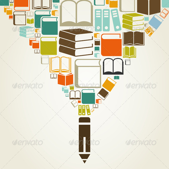 GraphicRiver Books and Pencil 6813054