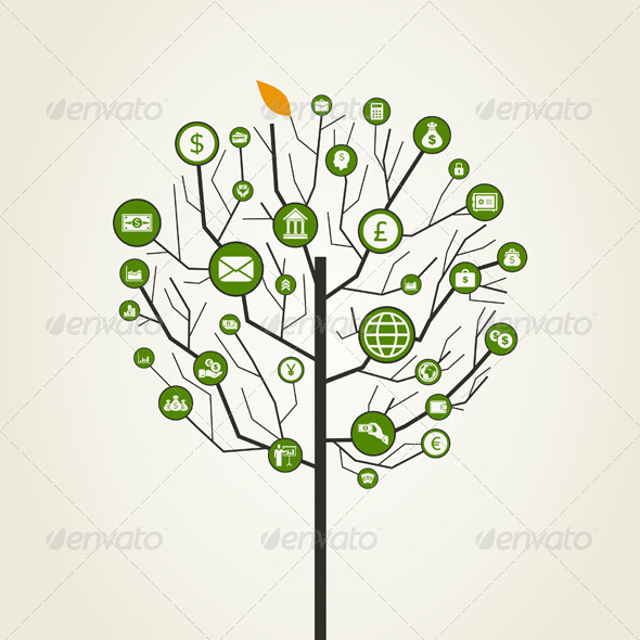 GraphicRiver Business Tree 6813183