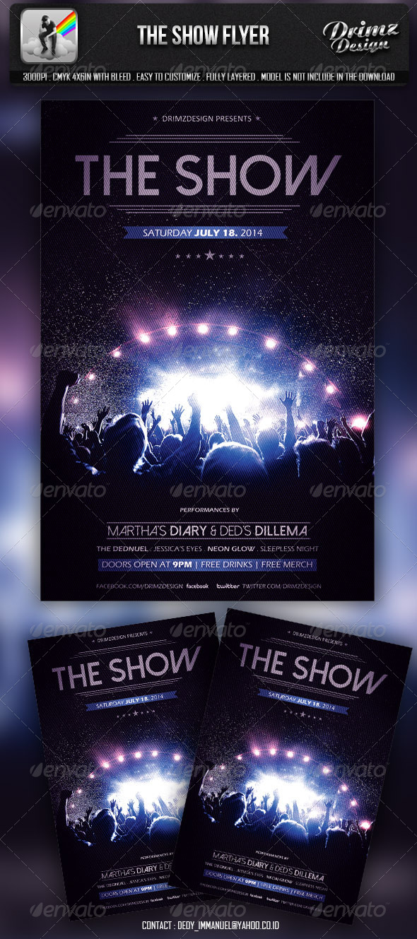 GraphicRiver The Show Flyer 6813246