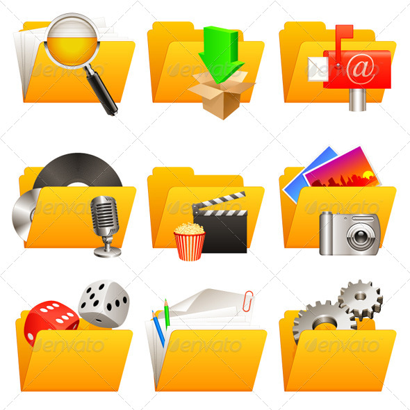 GraphicRiver Folder Icons 6813254