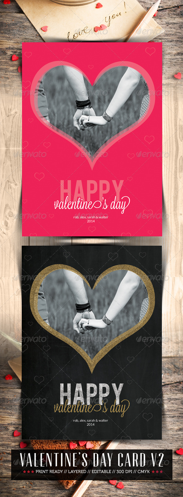 Valentine Day V2 - Greeting Cards Cards & Invites