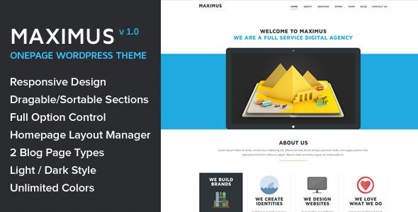 Maximus - Responsive Onepage Wordpress Theme